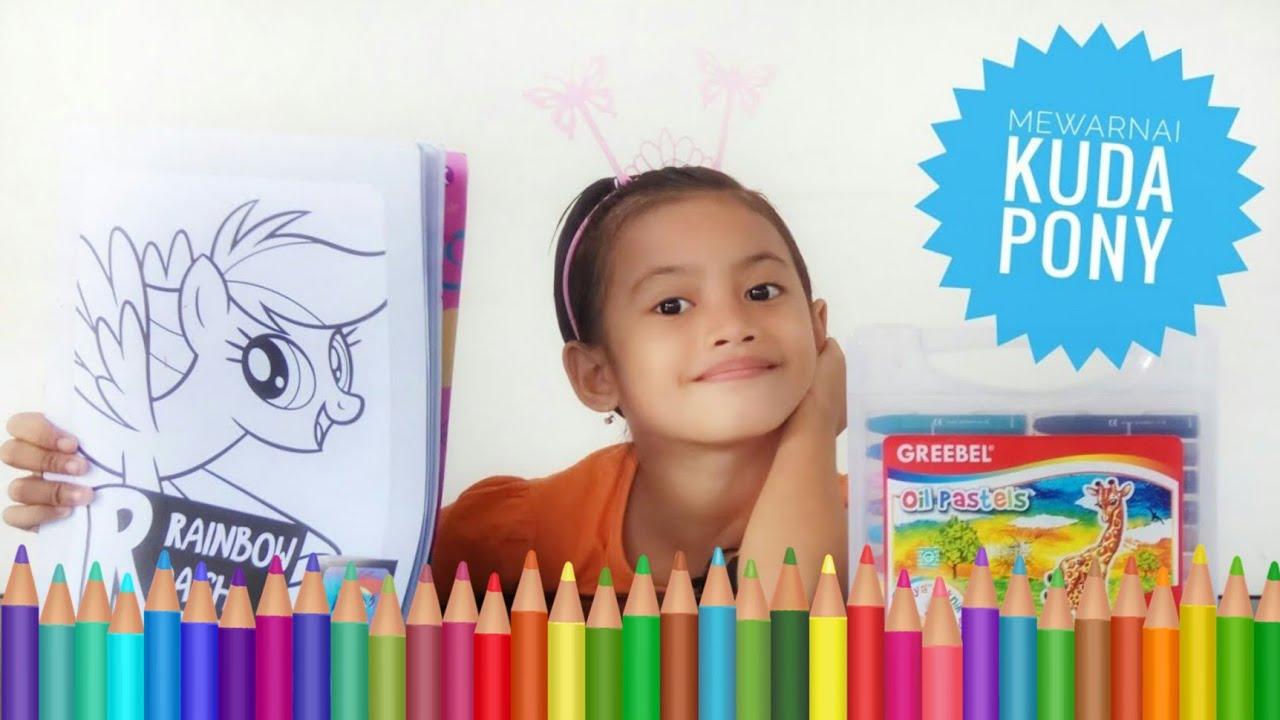 Mewarnai Kuda Poni 3 Belajar Menggambar Dan Mewarnai My Little Pony Nana Toys Review