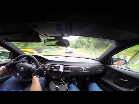 BMW M3 GTS VS BMW M5 F10 Ring Taxi Nrburgring Nordschleife with external mic + Harrys Laptimer