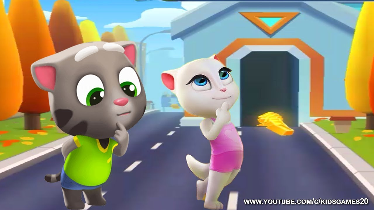 2a956d17ca9ec Talking Tom Gold Run vs My Talking Angela - Gameplay Great Makeover For  kids HD