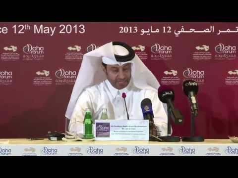 Press Conference Doha Forum 2013