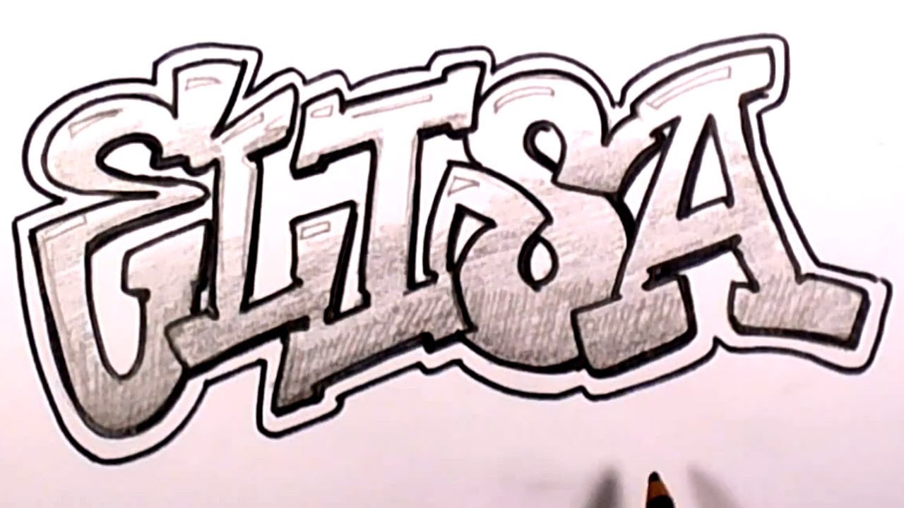 Name Drawings: How To Draw Graffiti Letters #1 Elisa