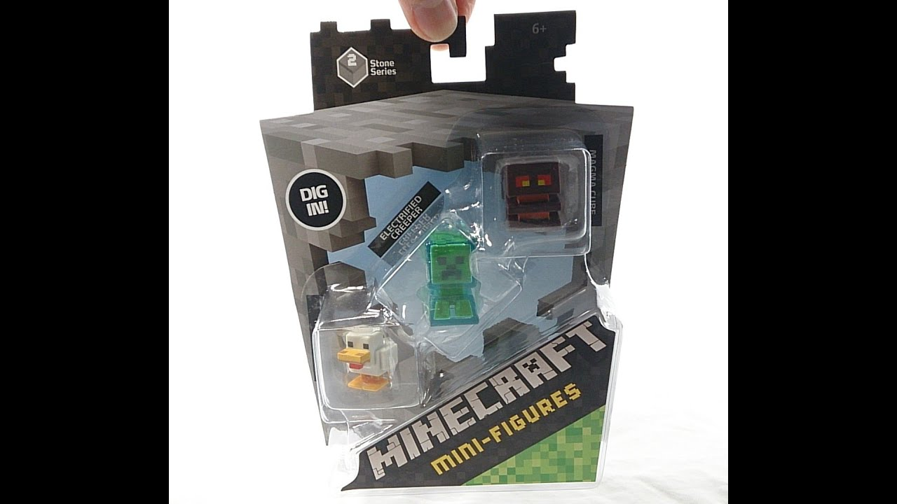 minecraft mini figures stone series 2 three pack review 1 youtube. Black Bedroom Furniture Sets. Home Design Ideas