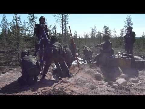 Finnish 120mm mortar squad