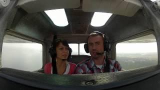 Lot Awionetką Cessna 152 – Białystok video