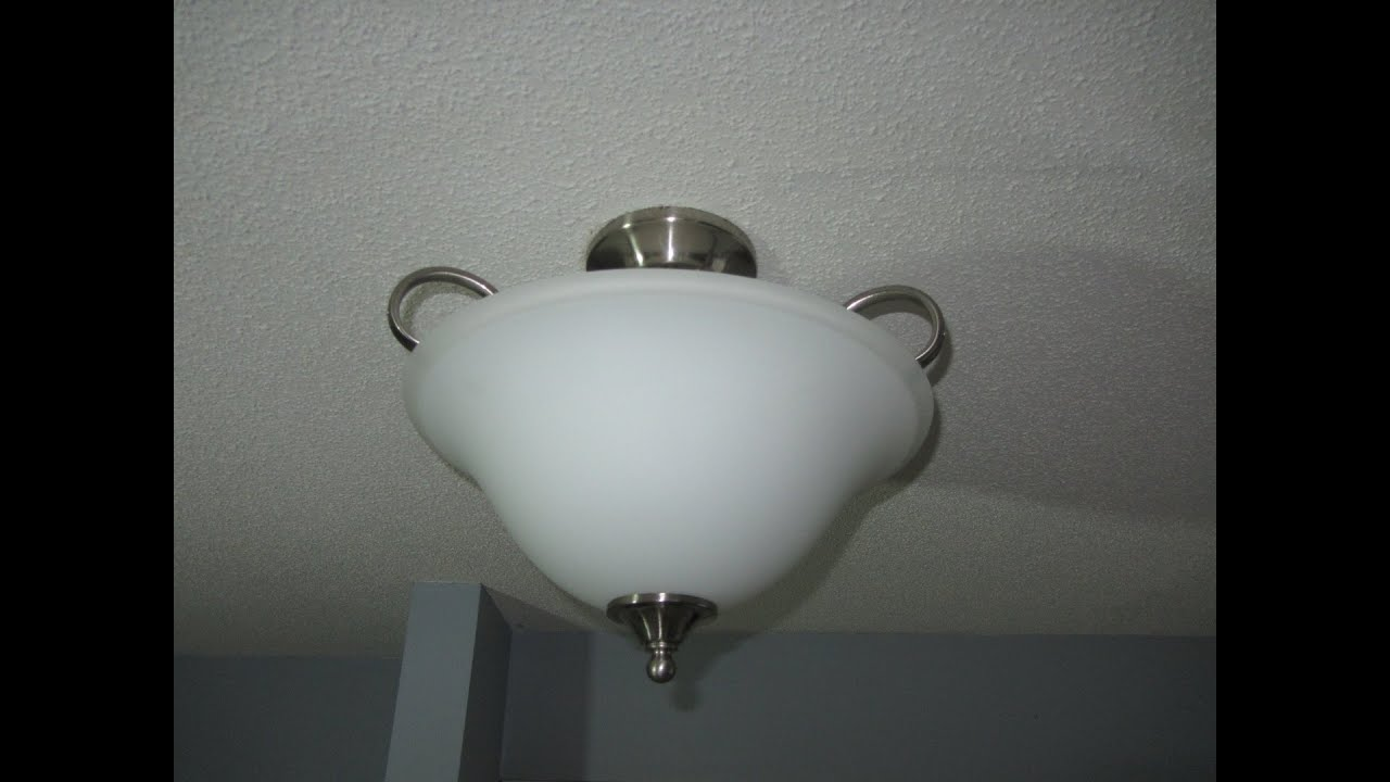 INSTALLING A LIGHT FIXTURE - HOW TO - YouTube