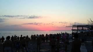 Лазаревское. Пляж Лазаревское Взморье закат(, 2015-08-30T19:29:57.000Z)