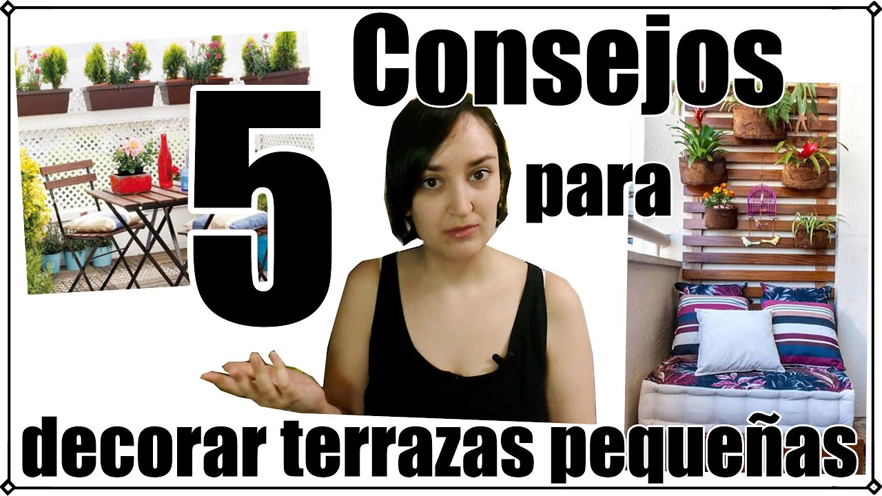5 trucos para decorar una terraza peque a youtube for Decoracion terrazas pequenas