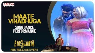 Maate Vinadhuga Song Dance Performance @ Taxiwaala Pre-Release EVENT Live || Vijay Deverakonda