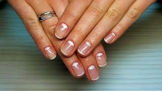 Дизайн ногтей гель-лак Shellac - Маникюр Dior / Лунный маникюр уроки дизайна ногтей nail art