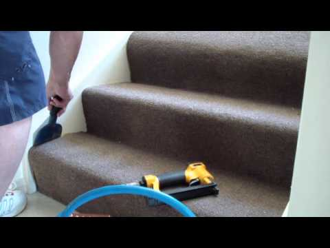 Diy install carpet on stairs