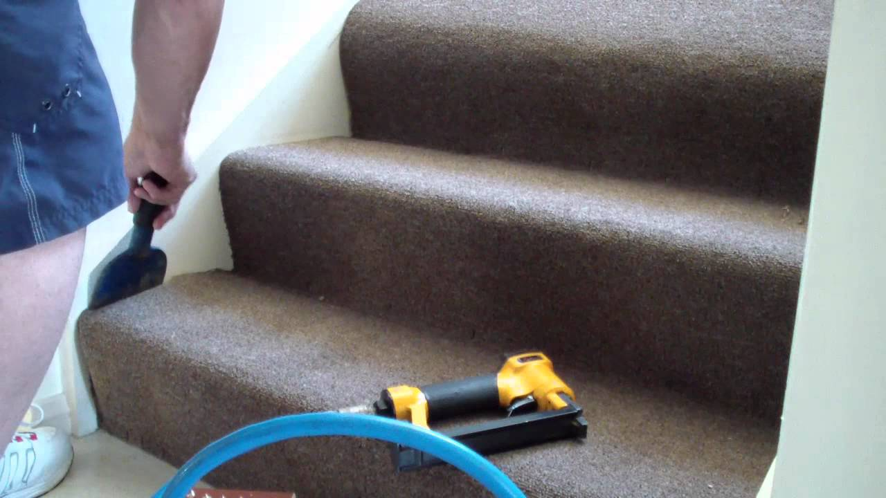 How To Replace Stair Carpet DIY   YouTube