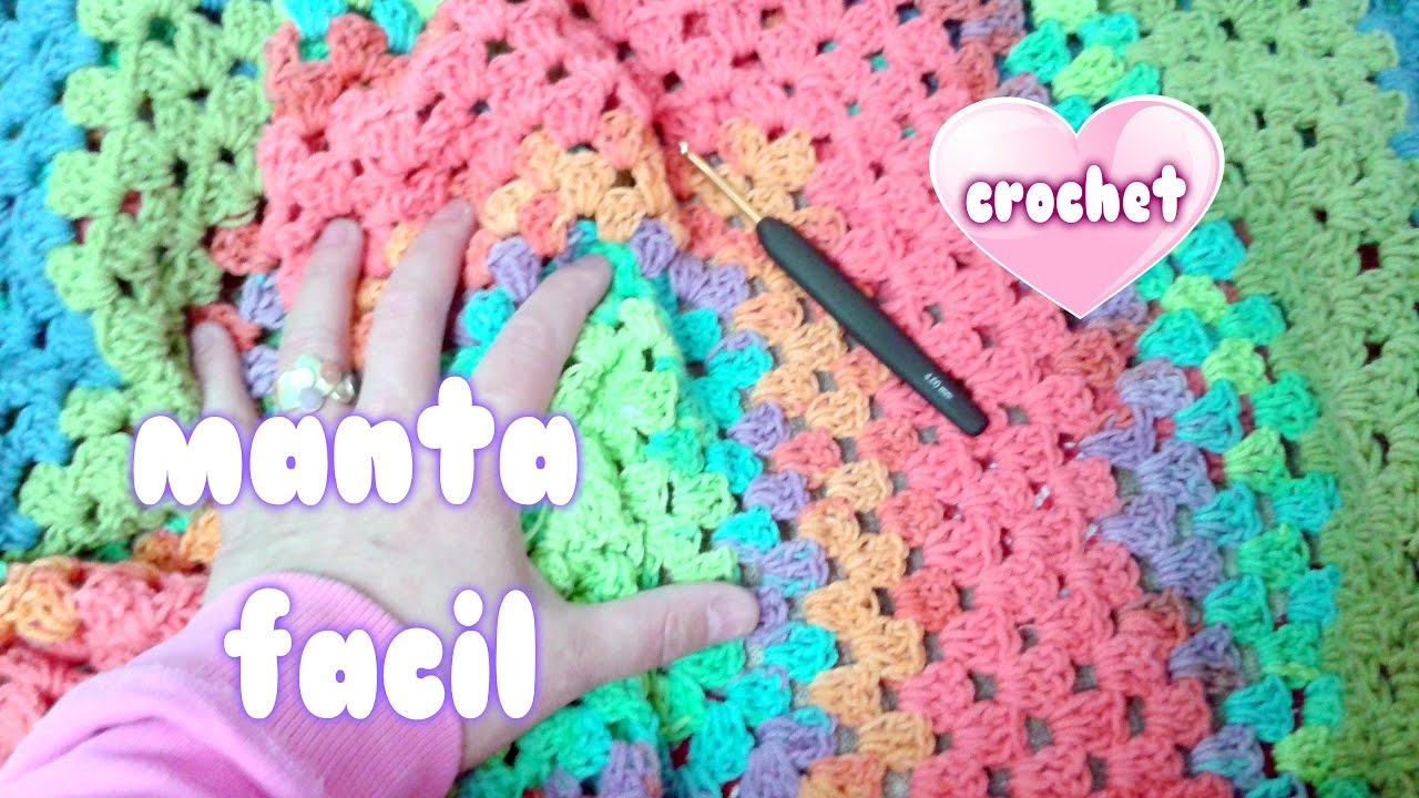 Como hacer manta rapida y facil a crochet sin coser - Mantas de punto hechas a mano ...