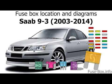 [GJFJ_338]  Fuse box location and diagrams: Saab 9-3 (2003-2014) - YouTube | 2007 Saab 9 3 Fuse Box Location |  | YouTube