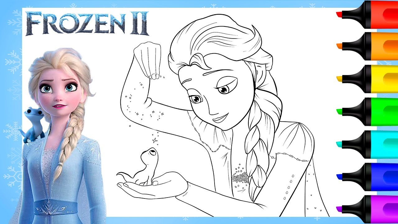 elsa and bruni frozen coloring pages  art and coloring