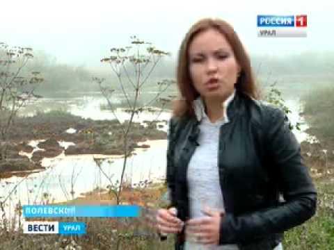 Экологическое бедствие в Полевском в одну из рек идет сброс промышленных стоков