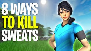 8 ways to NEVER LOSE to a FOOTBALL SKIN SWEAT EVER AGAIN! Fortnite Season 8 TIPS AND TRICKS!