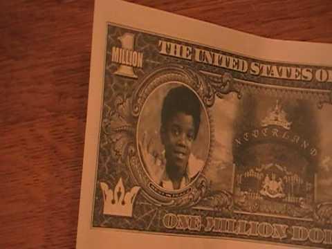 Michael Jackson 1 000 000 dollar bill - YouTube