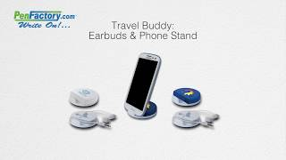Travel Buddy: Earbuds & Phone Stand