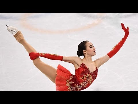 ALINA ZAGITOVA - Oly Team Event FS  ОИ 2018 командные соревнования   Комментарии американцев NBC