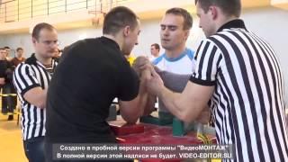 Смирнов - Четверик финал 78кг Рождественский турнир по армрестлингу 2014