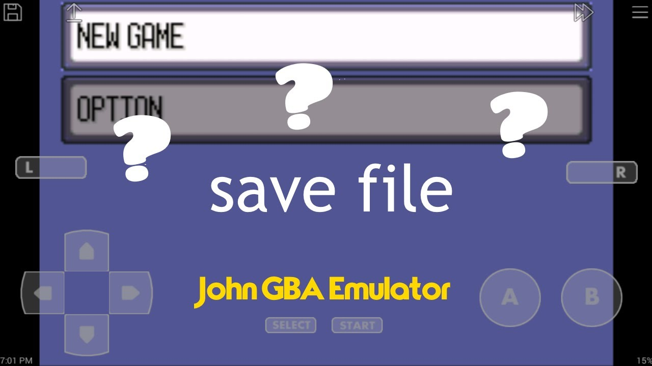 HOW TO GET YOUR SAVED FILED ON THE JOHN GBA EMULATOR FOR POKEMON EMERALD!!!