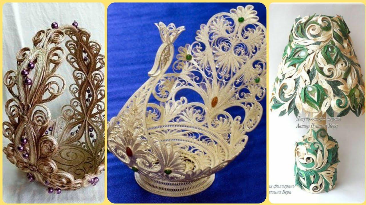 Latest Beautiful Quilling Jute Craft Ideas Quilling Jute Craft