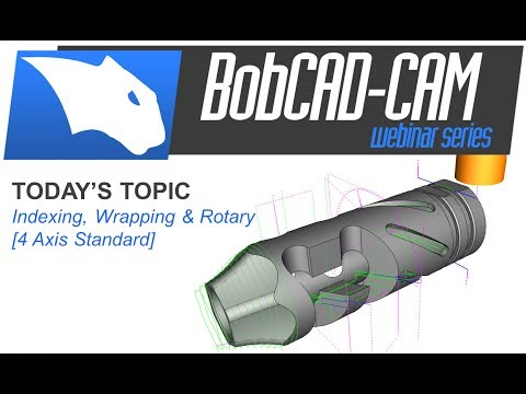 4 Axis Indexing, Wrapping & Rotary - BobCAD-CAM Webinar Series