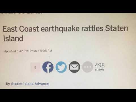 5.1 magnitude earthquake in Baltimore Delaware felt on Staten Island NYC New York City
