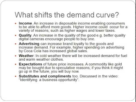Demand and Supply - Business Studies - Unit 1 - Edexcel - AARevision
