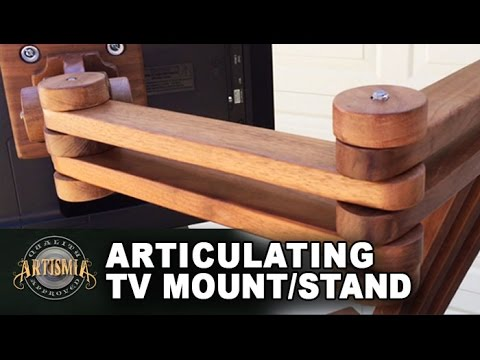 Diy Articulating Tv Mount Stand Artismia Wood Working