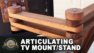 DIY Articulating TV Mount/Stand Artismia Wood Working