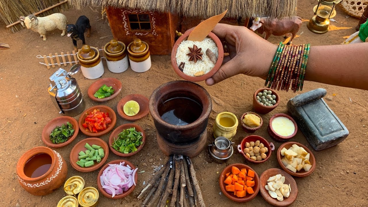 Miniature Vegetable Biryani Restaurant Style | वेज बिरयानी |Miniature Cooking | The Tiny Foods-Hindi