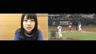 20161029 若田部 遥 (HKT48 チームH) SHOWROOMでの日本シリーズ第6戦...