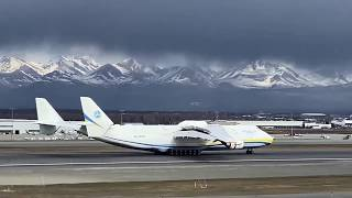 Antonov AN-225 Landing in Anchorage Alaska Carrying Medical Supplies!