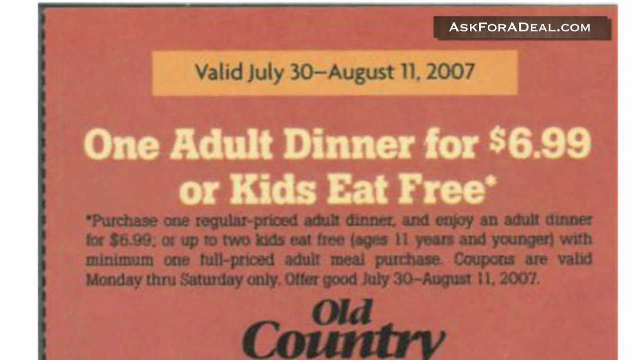 Country inn buffet coupon