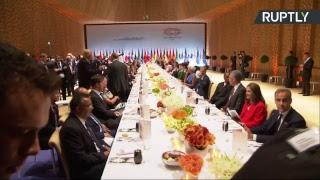 Торжественный приём в честь глав делегаций стран-участниц саммита G20 в Гамбурге