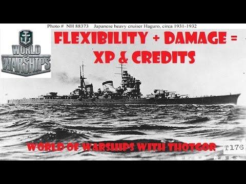 World of Warships- Flexibility + Damage = XP & Credits