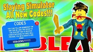 UPDATE 12 ALL NEW CODES IN SLAYING SIMULATOR ROBLOX