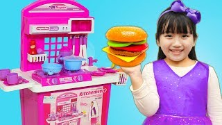 Cherry Pretend Play COOKING Food Toys with Kitchen Play Set