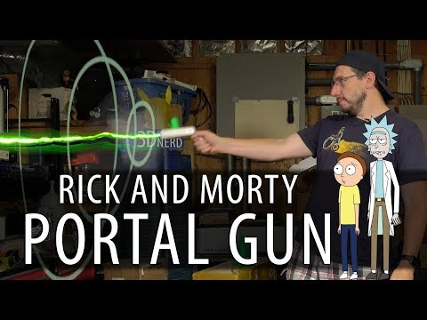Rick and Morty Portal Gun - 3D Printed, Assembled, Working?