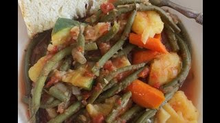 "Low Fat Vegan No Oil Greek ""fasolakia"" Stew, Aka String Bean Stew"
