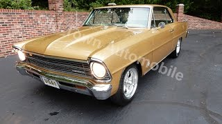 1967 Chevy Nova in gold for sale Old Town Automobile in Maryland