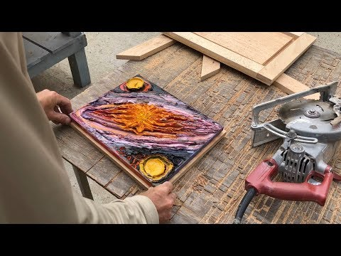 """framing the """"sun of saturn"""" oil painting"""