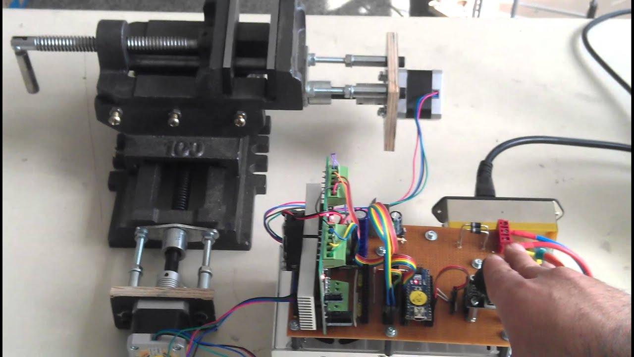 Schraubstock Xy Vice Kreuztisch Joystick Arduino C