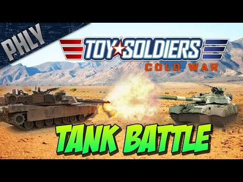 M1 ABRAMS TANK VS T-80 - Tanks Battle (Toy Soldiers: Cold War #3
