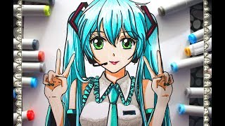 Cómo Dibujar a Hatsune Miku How To Draw Vocaloid Speed Draw | CarlosNaranjoTV