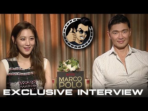 Claudia Kim and Rick Yune Interview - Netflix's Marco Polo (HD) 2014