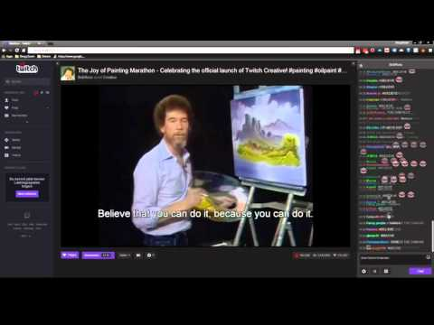 Twitch: Bob Ross Marathon ending + Chat Reactions