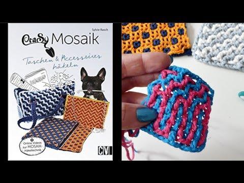 CraSy Mosaik doppelseitig häkeln - die Technik - YouTube