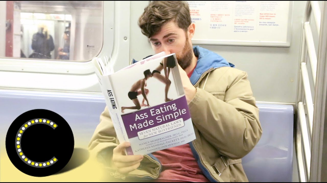 Taking Fake Book Covers on the Subway | Scott Rogowsky